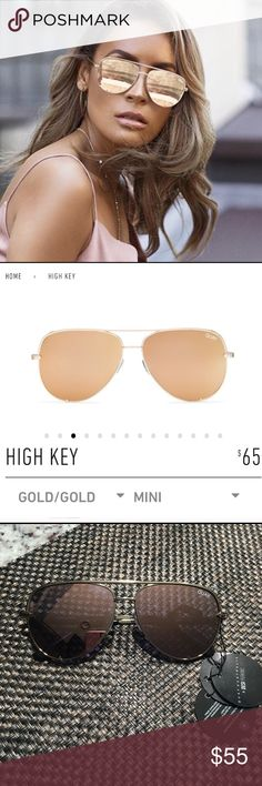 c299ee55c05 Quay high key mini sunglasses gold Quay x Desi Perkins high key mini in gold  Brand