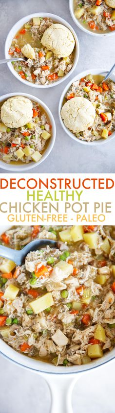 This easy deconstructed chicken pot pie recipe is our new favorite comfort food meal! It's hearty yet guilt free, and everyone will absolutely love this easy comforting meal. It's gluten-free, dairy-free, paleo-friendly, and SO delicious!