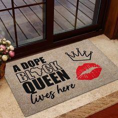 Dope Black Queen Door Mat Black Pride Decor Black Lives | Etsy Jeep Gifts, Student Teacher Gifts, Front Door Mats, Camping Blanket, Funny Doormats, Birthday Gifts For Girlfriend, Camping Gifts, Black Pride, Welcome Mats