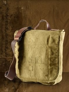 Ralph Lauren Canvas Messenger Bag    military inspired Canvas Messenger Bag is built to last with a durable broken-in body and rugged leather details. Sale Price $69.99