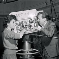 Annette with Bobby Darin - set of The Big Beat -  April 1959 - Bobby Darin had taken over the host position of this ABC show while regular DJ host Allan Freed was away.