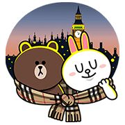 Brown & Cony Join Burberry in London - http://www.line-stickers.com/brown-cony-join-burberry-in-london/