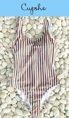 Hey, girl~ How about having a poolside party or beach vacation? We've got some new arrivals for you! Stripe design, open back and fresh color! Find more at Cupshe.com. FREE shipping! Check now.