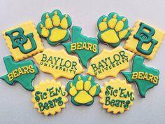 Amazing custom Baylor cookies!! #SicEm!