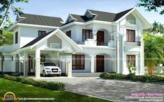Gallery of Kerala home design, floor plans, elevations, interiors designs and other house related products Bird House Plans, Dream House Plans, House Floor Plans, Contemporary House Plans, Modern House Plans, Modern House Design, 2 Story House Design, Dream Home Design, Style At Home