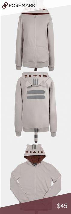 Pusheen the Cat Unisex Costume Hoodie Pusheen the Cat unisex costume hoodie. Grey hooded sweatshirt in like new condition. Still has tag. Super cute and kawaii. Pusheen Tops Sweatshirts & Hoodies