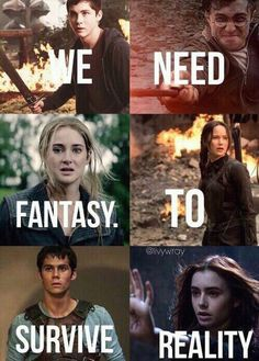Percy Jackson, Harry Potter, Divergent, Hunger Games, Maze Runner and Mortal Instruments! In all but Hunger Games Citations Photo, Citations Film, Movie Quotes, Book Quotes, Heros Film, Fandom Quotes, Book Memes, Harry Potter Memes, Lectures