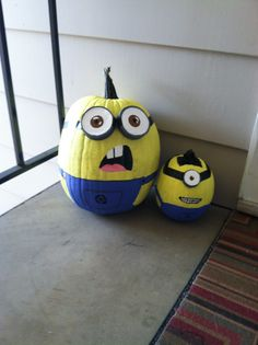 Despicable Me Minion pumpkins for Halloween 2013