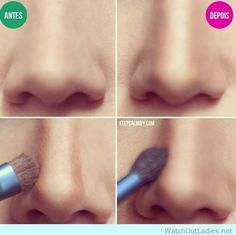 How to contour your nose to make it look smaller