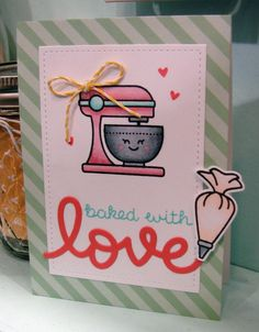 Image result for baked with love lawn fawn card