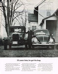 1963 Volkswagen Bug Ad Photo Picture