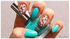 #DIY #Confetti #Nailart, video #tutorial on my blog