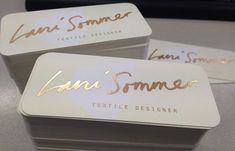 gold foil blocking business cards: