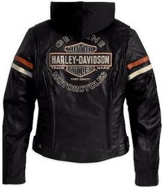 *Women's Harley-Davidson Enthusiast Leather Jacket For Sale 98142-09VW - $319.95 : Harley Davidson Jackets, Vintage Mens Jacket, Vests, Leather Jackets, harley jacket, Chaps, motorcycle gear