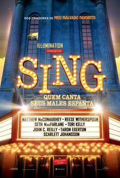 Cartaz de Sing - Quem Canta Seus Males Espanta, dezembro nos cinemas!
