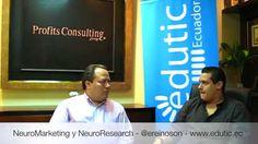 """(video) Eduardo Reinoso Negrete, experto #NeuroResearch y  #NeuroMarketing nos comenta las diferencias entre ambas. Para esto Profits Consulting Group nos ayuda en su """"Consumer Labs"""" a entender los procesos de toma de decisiones para ir más allá del estudio de las percepciones. vía edutic Ecuador"""