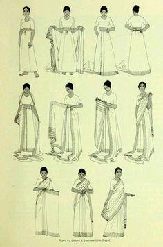 SARI: Es el traje típico que usan las mujeres en la India.