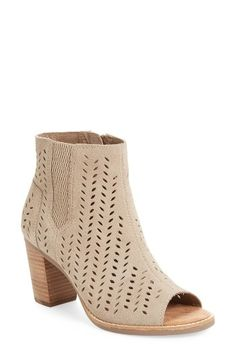 TOMS Majorca Perforated Suede Bootie (Women) by womens-dresses