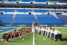 Amazing wedding party football pic (Carpenter Photo & Design - Katie & Liam)