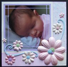 Baby Girl   Trim the picture to create a border