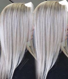 Icy white platinum blonde Platinum Blonde Hair blonde icy Platinum W. Blonde Hair With Roots, Silver Blonde Hair, Cool Blonde Hair, Light Blonde Hair, Balayage Hair Blonde, Platinum Blonde Hair, Icy Blonde, White Blonde Highlights, Hair Highlights