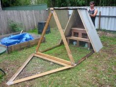 a frame chicken house