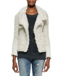 Caty Looped-Knit Sweater Jacket by IRO at Neiman Marcus.