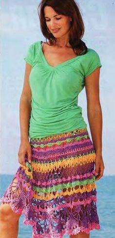 Платья, юбки. Модели для молодых, связанные крючком