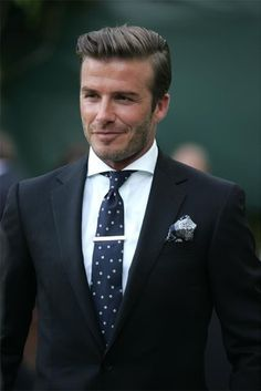 Beckham in a suit