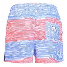 SWIM SHORTS WITH STRIPES - Polyester Boardshorts with large stripe print. Elastic waistband with adjustable drawstring. Back pocket with Frank's label detailing. Internal net.  #mrbeachwear #uomo #men #onlineshop #franks #boardshort #summer #fashion #swimwear  #style #springsummer2014 #summer2014 #stripes