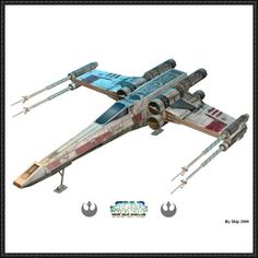 Star Wars - X-wing Starfighter Ver.7 Free Paper Model Download