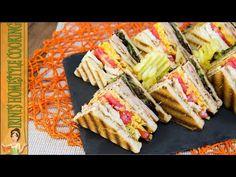 Γρήγορο club sandwich, τέλειο σνακ για την παραλία-Club sandwich - YouTube