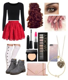"""""""Movie Date"""" by x-dancergirl-x ❤ liked on Polyvore featuring MAC Cosmetics, Bobbi Brown Cosmetics, Forever 21, Tory Burch, Pippa Small and Accessorize"""