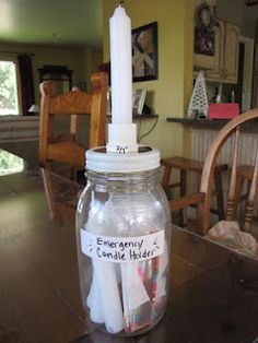 DIY Tutorial - How to make a Candle Jar so you can have lighting during a power outage.