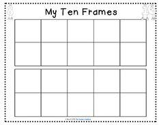 The Teachers' Cauldron: Apples, ice cream, ten frames (freebie!), and word walls! Numbers Preschool, Math Numbers, Number Flashcards, Preschool Ideas, Math Folders, Fun Math, Math Games, Maths, Math Fractions
