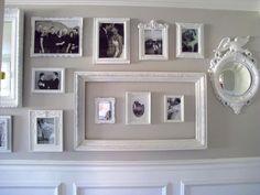 cadres photos originaux peints blanc- décoration murale chic