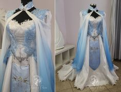 Legend Of Zelda Wedding Dress Blue Zelda Bridal Gown By Firefly Path On Deviantart Pretty Outfits, Pretty Dresses, Beautiful Dresses, Cute Outfits, Wedding Dress Pictures, Wedding Dresses, Princesa Zelda, Fantasy Gowns, Fantasy Clothes