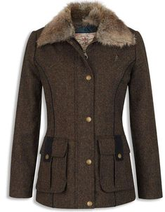 SALE the lovely Jack Murphy Aurnia Dolish Tweed Jacket ALL SIZES in stock, Jack Murphy Quality clothing at a great price. Beautiful soft Dolish Tweed SHETLAND WOOL for comfort and wear Irish Clothing, Crew Clothing, Country Clothing Women, Country Wear, Country Outfits, Tweed Coat, Tweed Jacket, Brown Jacket, Outdoor Wear