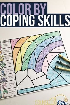 This color by coping skill activity is a great way to review coping skills with your students during spring time and Easter! Review coping strategies that students can use when difficult situations arise in this hands-on activity! Perfect for small group counseling, individual counselor, or classroom guidance lessons. Perfect school counseling Easter activity! #counselorkeri