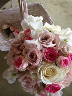 Roses for a romantic bride's bouquet