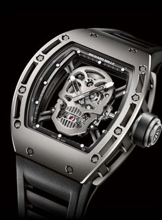RM 052 Tourbillon Skull watch by Richard Mille.