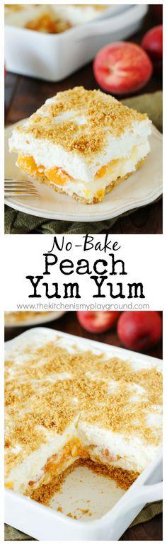 No-Bake Peach Yum Yu