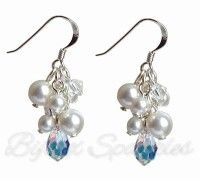 Pearl Cluster Earrings by Bijoux Sparkles
