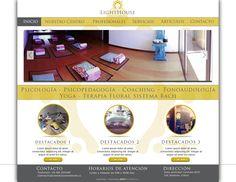 Maqueta de Sitio Web para Centro Lighthouse