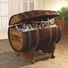 50 Tips and Ideas for a Successful Man Cave Decor - Decoration tips and ideas for a successful man cave decor baseball mancave hockey diy rail Whiskey barrel sink, hammered copper, rustic antique bathroom Barris, Man Cave Accessories, Kitchen Accessories, Jeep Accessories, Wine Barrel Furniture, Barrel Projects, Mens Gadgets, Gadgets Shop, Cheap Gadgets