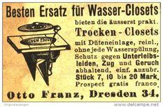 Original-Werbung/Anzeige 1903 - TROCKEN - CLOSETS / OTTOFRANZ  - DRESDEN - ca. 50 x 30 mm