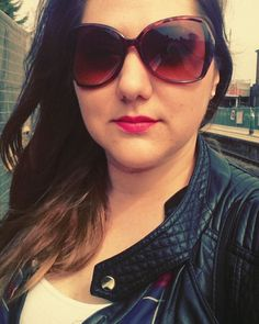 #lovely #lovelyweather #spring #londonspring #longhair #brunette #sombre #sunglasses #pinklips #inglot #blackjacket #beforework #polishgirl #pięknapogoda #różowe #usta #brunetka #przedpraca by czarny_motyll