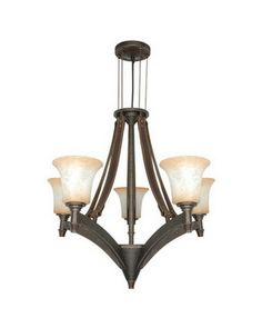 Nuvo Lighting 60-1041 Viceroy Collection Five Light Chandelier in Golden Umber Finish