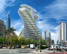 Designed by Vincent Callebaut Architectures. Vincent Callebaut Architectures has released in-progress images of their Tao Zhu Yin Yuan sustainable tower, under construction in the Xinjin. Architecture Cool, Sustainable Architecture, Sustainable Design, Sustainable Energy, Poseidon Undersea Resort, Mundo Design, Vincent Callebaut, Eco Construction, Green Tower