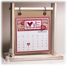February calendar for Taylored Expressions challenge by Jen Shults